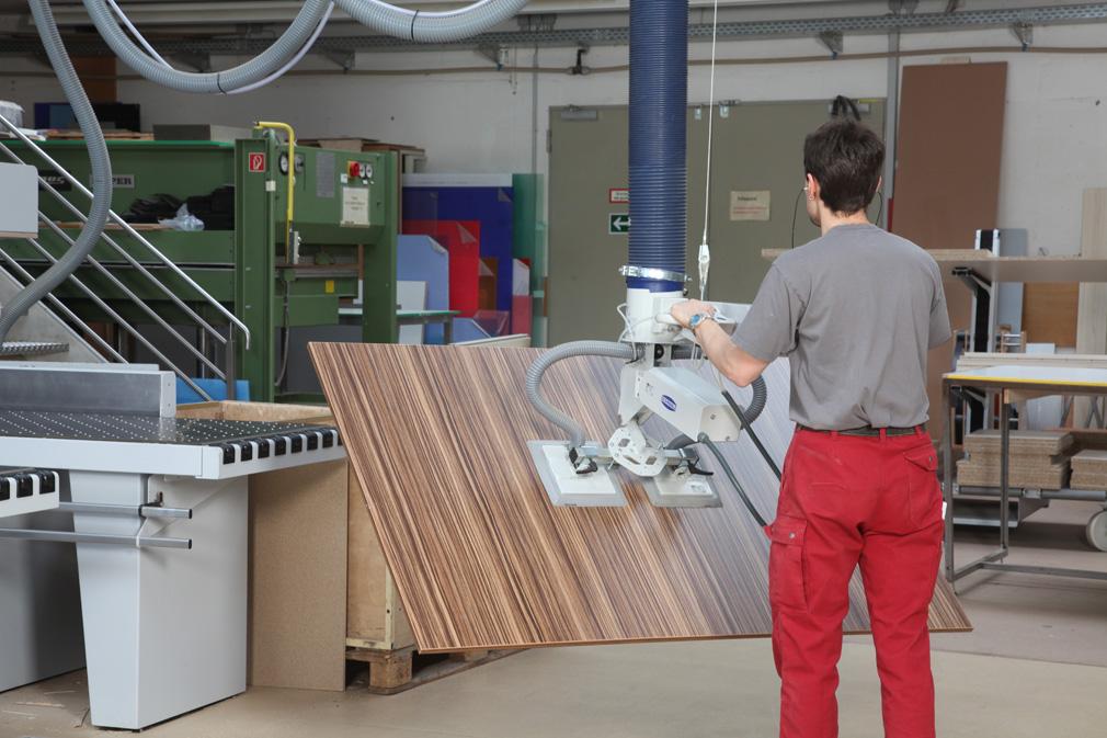 Schlauchheber für Holzplatten