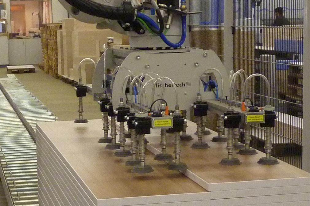 Greifsystem für Holzplatten