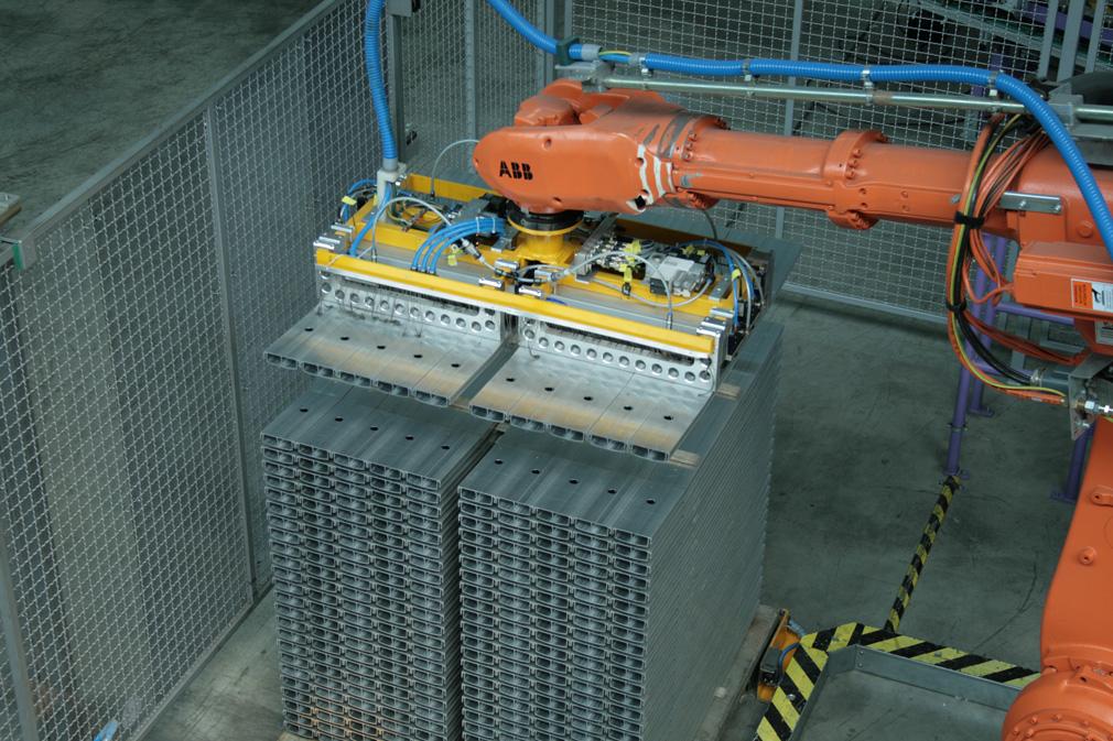 Greifsystem für Metallplatten