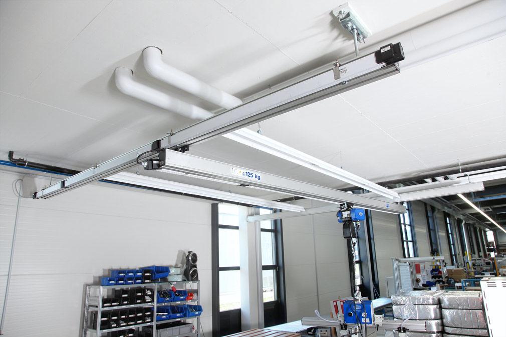 轨道包括为葫芦供电的无接触式供电系统