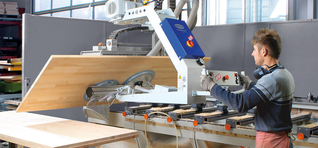 Vakuumheber zum Wenden von Holzplatten
