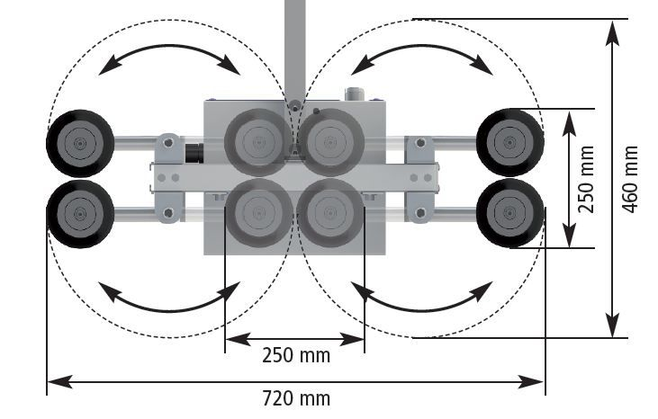 Saugerraster mit verstellbaren Saugfüßen (VacuMaster Light 100-4)