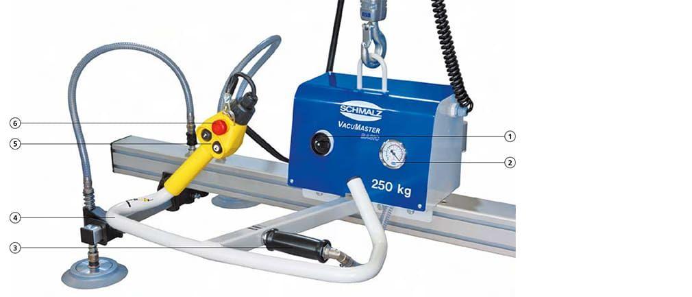 Modular system of lifting device VacuMaster Basic