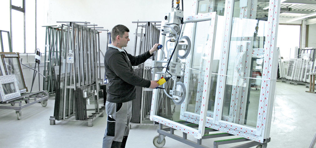 VacuMaster Window for rotating and palletizing windows