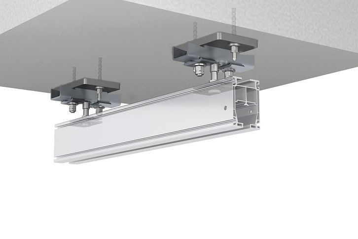 Anchor plates for concrete ceilings